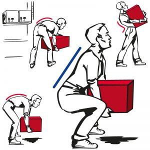 man is lifting a box