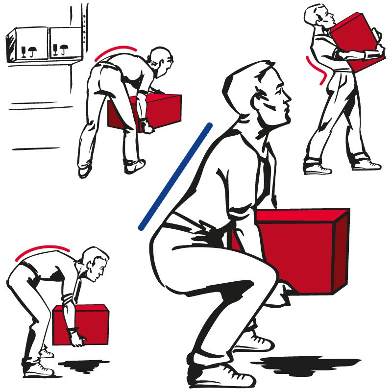 man is lifting a box