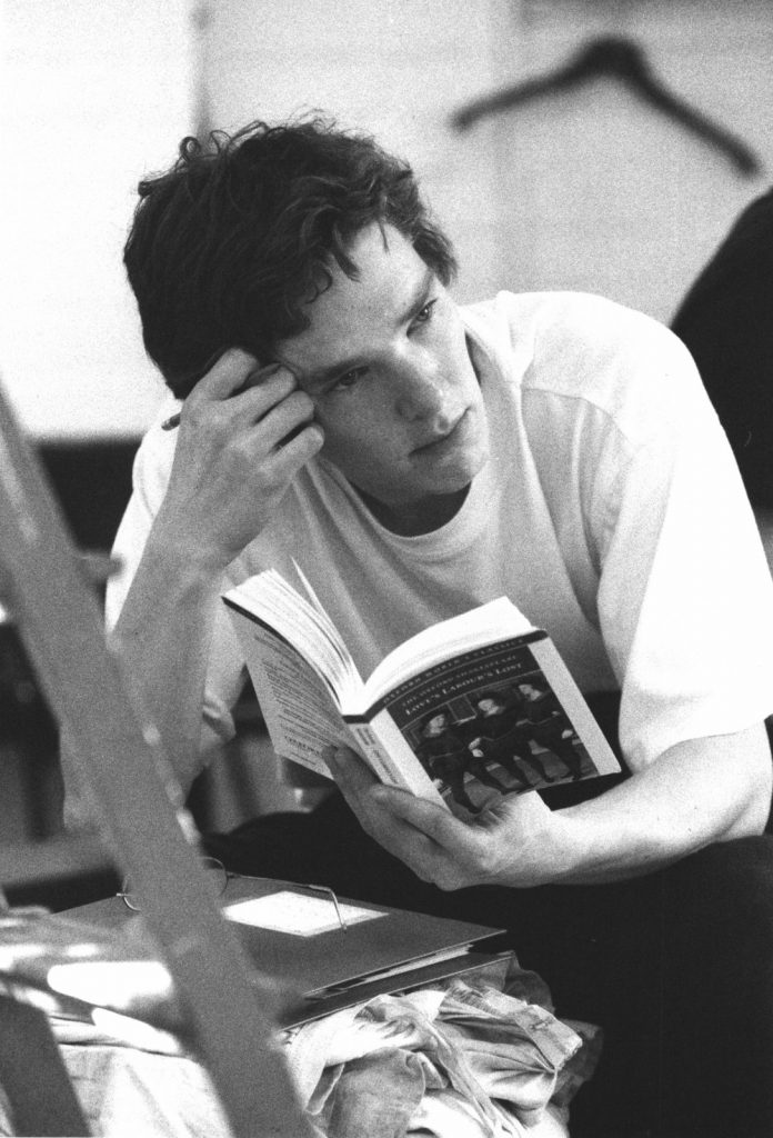 Benedict Cumberbatch-in rehearsal for his role The King of Navarre in Shakespeare's Love's Labour's Lost