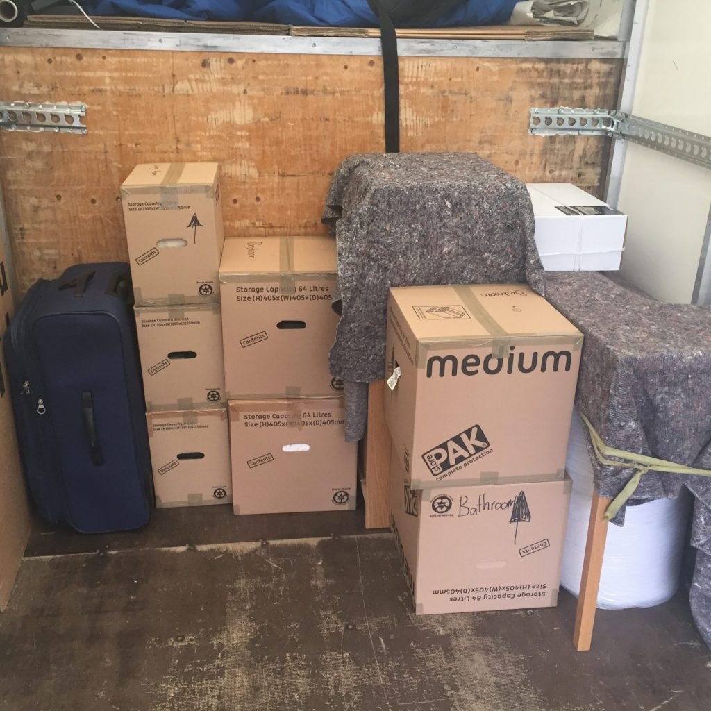 First pick-up – nice packing by our clients!