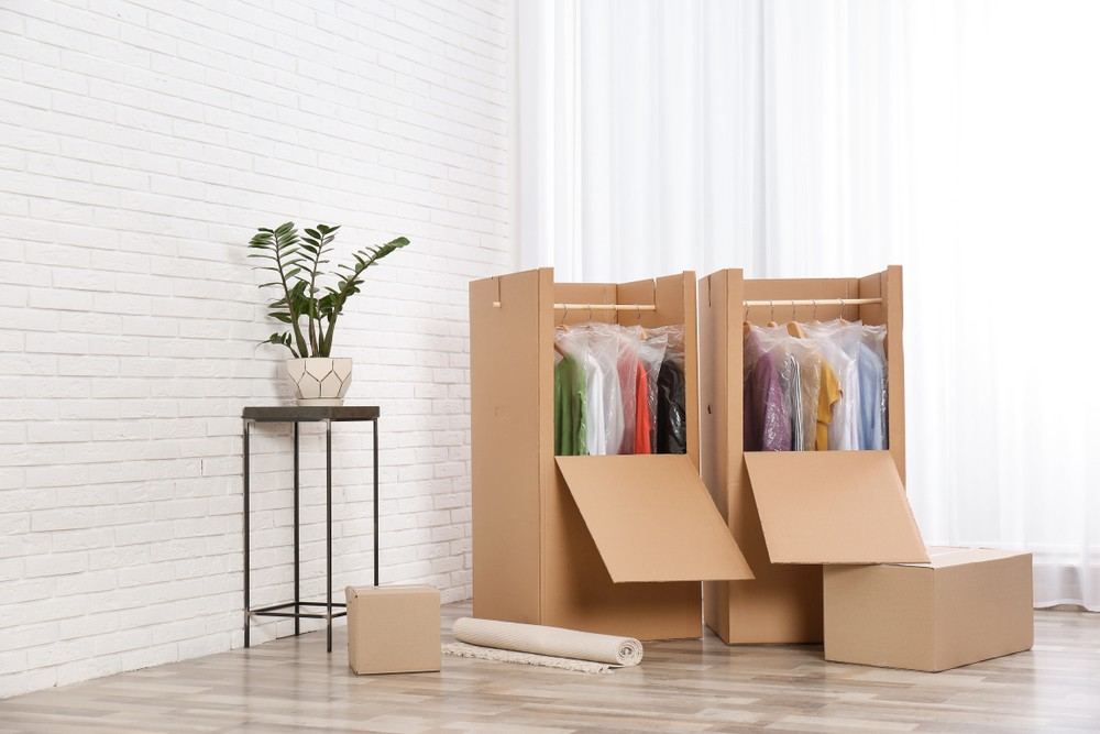 Boxes for packing clothes