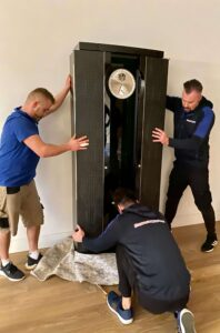 Moving a Buben and Zorweg watch safe in One Hyde Park removals